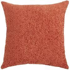 herringbone chenille rust pillow pier 1 imports