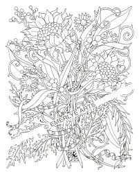 Detailed Adult Flower Coloring Pages Printable