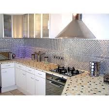 cuisine mosaique mosaïque inox 1m2 crédence cuisine carrelage damier 20 carrelage