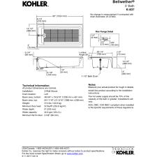 Kohler Villager Bathtub Weight by Kohler K 837 0 Bellwether White Soaking Tubs Tubs U0026 Whirlpools