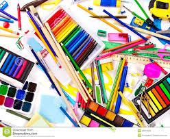 Art Supplies Ba School Wallpaper