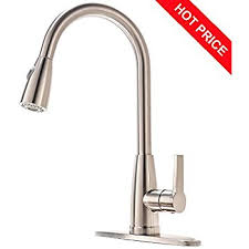 Commercial Kitchen Faucets Amazon by Best Commercial Stainless Steel Single Handle Pull Down Sprayer