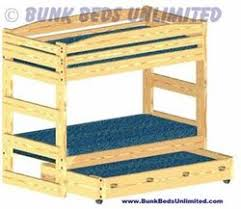 plans to build a stackable bunk bed with a trundle bed beneath