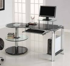 Tempered Glass Computer Desk by Impressive Glass Computer Desk Anyone Here Using A Tempered Glass