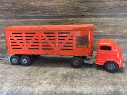 1950's Pressed Steel Structo Toy Cattle Truck & Trailer | Structo ... Farm Toys For Fun A Dealer Toy Cattle Hauling Trucks Wyandotte Dodge Cab Great Plains Cattle Ranch Tt Truck 40s V Collectors Official Tekno Distributors Suppliers 12002 Livestock Road Train Highway Replicas Model Trucks Diecast Tufftrucks Australia Rural Toys Getyourpitchforkon Wooden Toy B Double Kenworth And Youtube 120th 28 Sundowner Trailer By Big Country