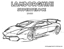 Lamborghini Coloring Pages Throughout