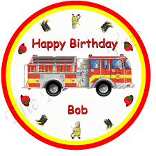 Fire Truck Personalised Edible Cake Image | The Monkey Tree Fire Engine Cupcake Toppers Fire Truck Cupcake Set Of 12 In 2018 Products Pinterest Emma Rameys Firetruck 3rd Birthday Party Lamberts Lately Fireman Firehouse Etsy Monster Cake Ideas Edible With Free Printables How To Nest For Less Refighter Boy Truck Topper Image Rebecca Cakes Bakes Pin By Diana Olivas On Diana Cupcakes Fondant Red Yellow Rad Hostess The Mommyapolis