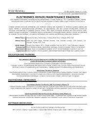 Maintenance Technician Resume Sample Lovely For Aircraft Ojt