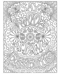 Say Hello To New Possibilities Coloring Page By Thaneeya McArdle From Live For