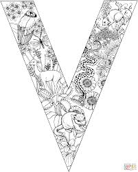Click The Letter V With Animals Coloring Pages