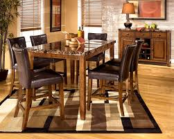 Dinette Sets With Roller Chairs by Wonderful High Kitchen Table Set Counter Height Dining Table Sets