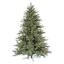 Blue Noble Fir Pre Lit LED Christmas Tree