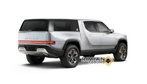 100 Truck Stuff And More New Rivian R1T Pickup Renders Show Camper Flatbed
