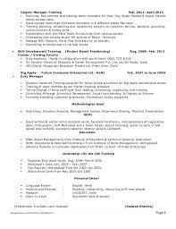 Technical Training Manager Resume 2 Deputy Sample