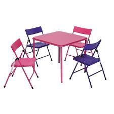 Cosco 5-Piece Kids Folding Table & Chair Set, Pink/Purple Kids Study Table Chairs Details About Kids Table Chair Set Multi Color Toddler Activity Plastic Boys Girls Square Play Goplus 5 Piece Pine Wood Children Room Fniture Natural New Hw55008na Schon Childrens And Enchanting The Whisper Nick Jr Dora The Explorer Storage And Advantages Of Purchasing Wooden Tables Chairs For Buy Latest Sets At Best Price Online In Asunflower With Adjustable Legs As Ding Simple Her Tool Belt Solid Study Desk Chalkboard Game