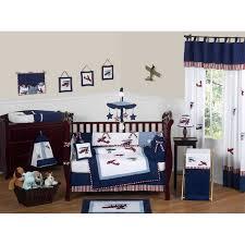 Sweet Jojo Designs Crib Bedding by Bedding Geenny Boutique Airplane Aviator Piece Crib Bedding Set