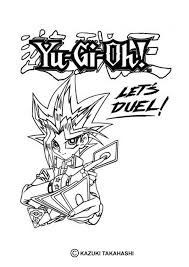 Lets Duel Yu Gi Oh Coloring Page