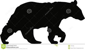 Download Black Bear Walking Stock Vector Illustration Of