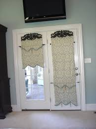 Patio Door Window Treatments Ideas by Decorating Roman Shades For French Doors Latest Door U0026 Stair Design
