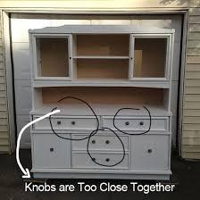 Proper Kitchen Cabinet Knob Placement by Fill U0027er Up Repositioning Furniture Hardware U0026 Filling In Holes
