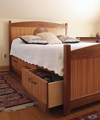 how to build storage into any bed finewoodworking