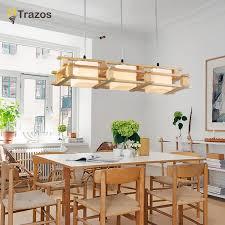 moderne holz esszimmer wohnzimmer anhänger lichter leuchte lüster de sala led anhänger leuchte laras de techo colgante