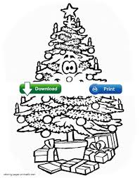 Christmas Tree Coloring Page Print Out by Christmas Tree Coloring Pages For Kids