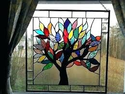 Stained Glass Tree Patterns Family Pattern Christmas