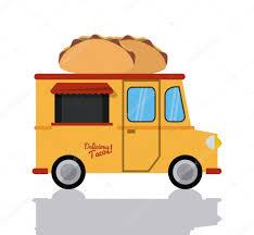 Taco Truck Fast Food Icon. Vector Graphic — Stock Vector © Jemastock ...