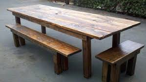 Rustic Outdoor Dining Furniture Great Wood Table Benches House Living Rooms