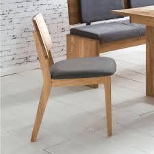 details zu stuhl norman 2 esszimmerstuhl holzstuhl stoff grau und eiche natur massiv geölt