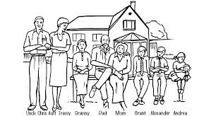 Image Gallery Of Nuclear Family Clipart Black And White