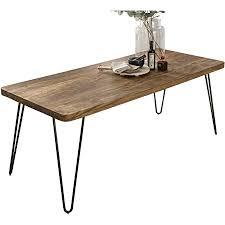 finebuy massiver esstisch harlem 180 x 80 cm sheesham massiv holz esszimmertisch massivholz mit design metall beinen holztisch tisch esszimmer