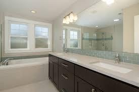 linen look tile bathroom transitional with 12x24 tile aqua glass
