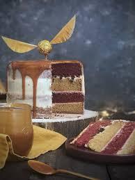 harry potter layer cake mintandohlala vanillekuchen