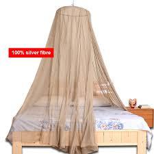 runde dome anti elektromagnetische strahlung abschirmung 40 50db 100 silber fibre bett baldachin