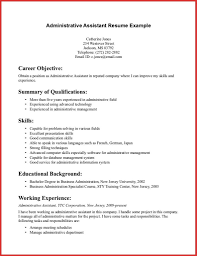 New Administrative Assistant Resume No Experience Personal Leave Within 2831