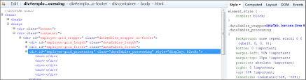 Datatable Custom Loader