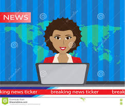 Anchorman On Broadcast Flat Vector Illustration With News Clipart
