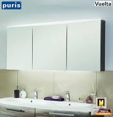 puris vuelta spiegelschrank 140 cm mit led flächenleuchte variante c