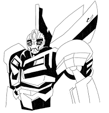 Beautiful Bumblebee Transformer Coloring Page 25 On Seasonal Colouring Pages With