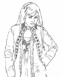 Download Coloring Pages Disney Channel Free Printable Hannah Montana For Kids