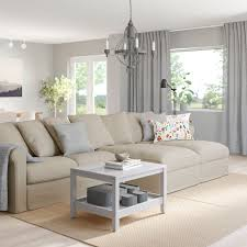 grönlid 4er sofa mit récamieren sporda naturfarben ikea