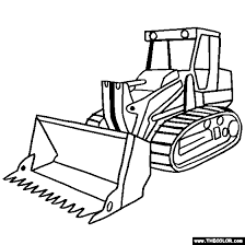 Tracked Loader Construction Vehicle Coloring Page