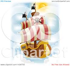 100 Design A Pirate Ship Clipart Of A Flying In The Sky Royalty Free Vector