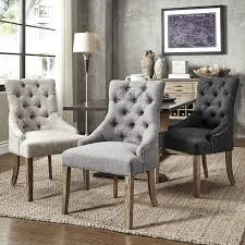 Parsons Dining Chairs Upholstered by Habit Solid Wood Tufted Parsons Dining Chairs Set Of 2 Free Grey