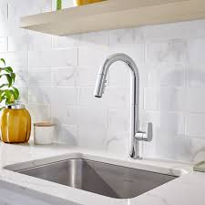 Delta Lakeview Bar Faucet by Pleasing Single Handle Pulldown Kitchen Faucet Brushed Nickel
