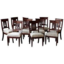 Set Of Ten Antique Mahogany Dining Chairs With Detailed Back ... Custom Made Modern Wood Ding Room Chair With Carved Seat Gazelle Crown Mark Kiera 2151sgy Traditional Side With Mahogany Chippendale Chairs For The Leather Seats Antique Round Table Set 21 W Of 2 High Back Linen Blend Hand Solid Frame Classic Arab Wedding Cross Bar Cast Pulaski Fniture San Mateo Pair Teak Fniture In 2019 Sothebys Home Designer Hooker Handcarved Wooden Luxury Palace White Color Baroque Carving For Set Of 82 19th Century Carved Swedish Birch Chippendale Design