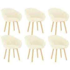 details zu vidaxl 6x esszimmerstuhl creme samt polsterstuhl küchenstuhl stuhl stühle