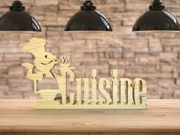lettre cuisine en bois mot en bois chef cuisine lettres décoratives